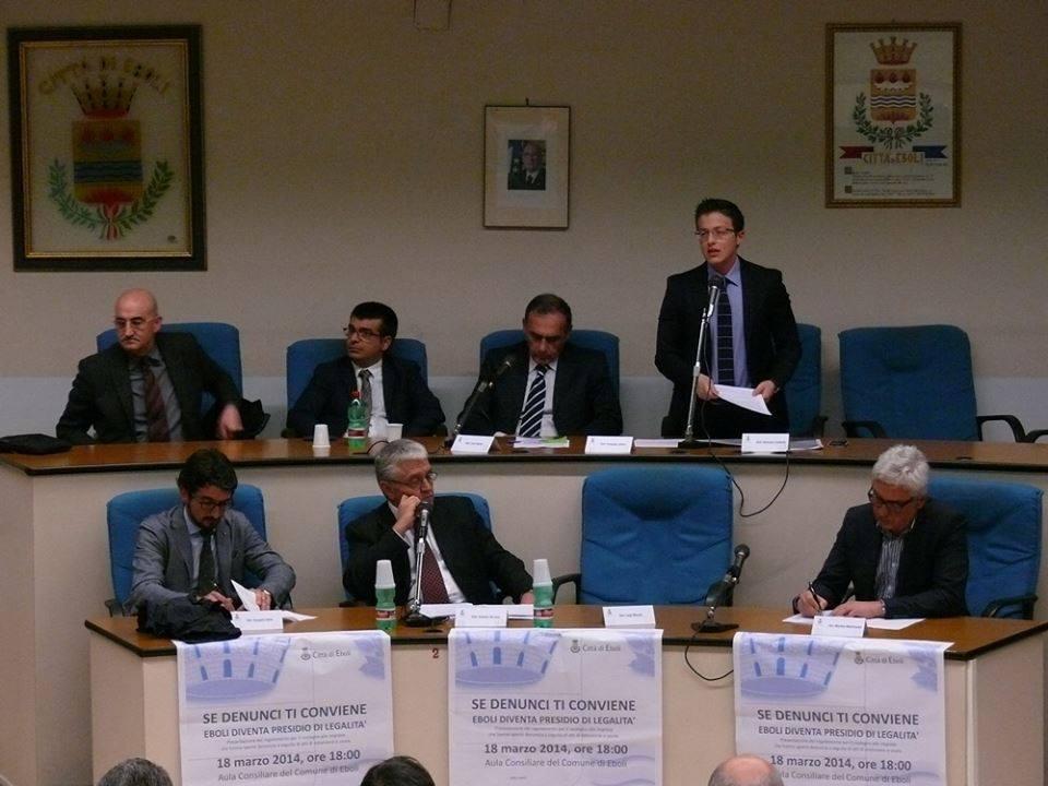 Evento anti usura e presentazione regolamento. Marzo 2014